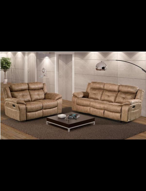 sofa 2 lug 9222 relax nubuck. Black Bedroom Furniture Sets. Home Design Ideas