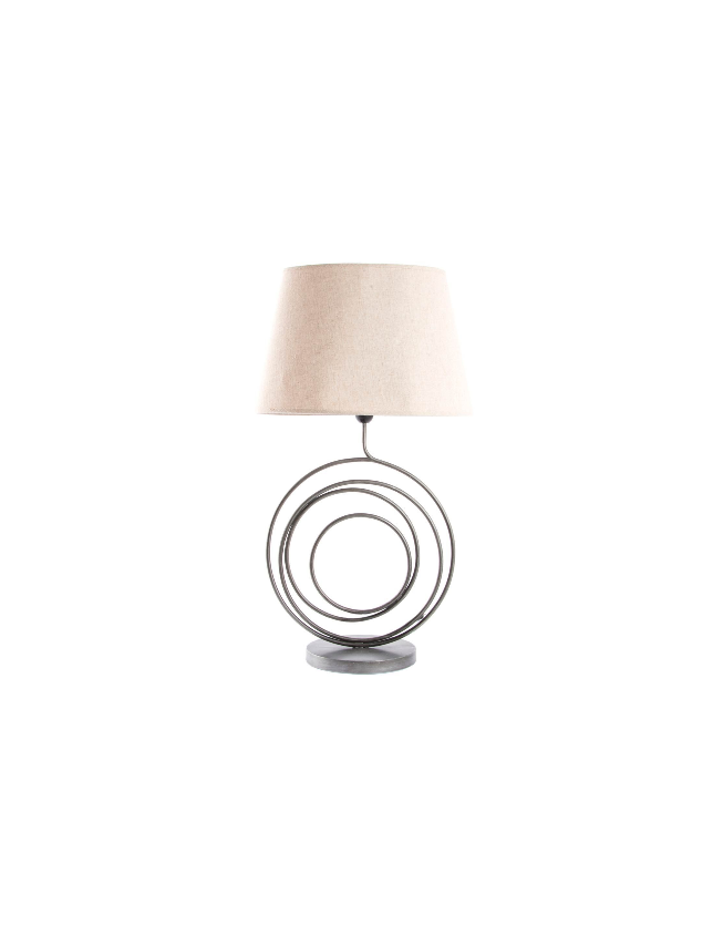 CANDEEIRO METAL COM ABAJOUR CIRCLE NATURAL 42*30*79 - LA-125814