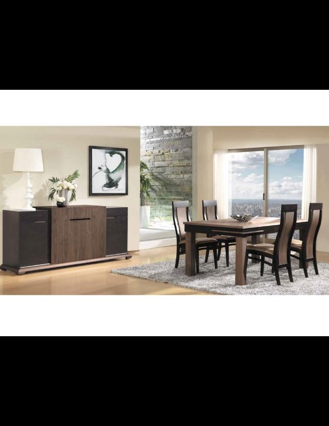 CONJUNTO SALA JANTAR ORIENTE (Aparador + Mesa + 4 Cadeiras)