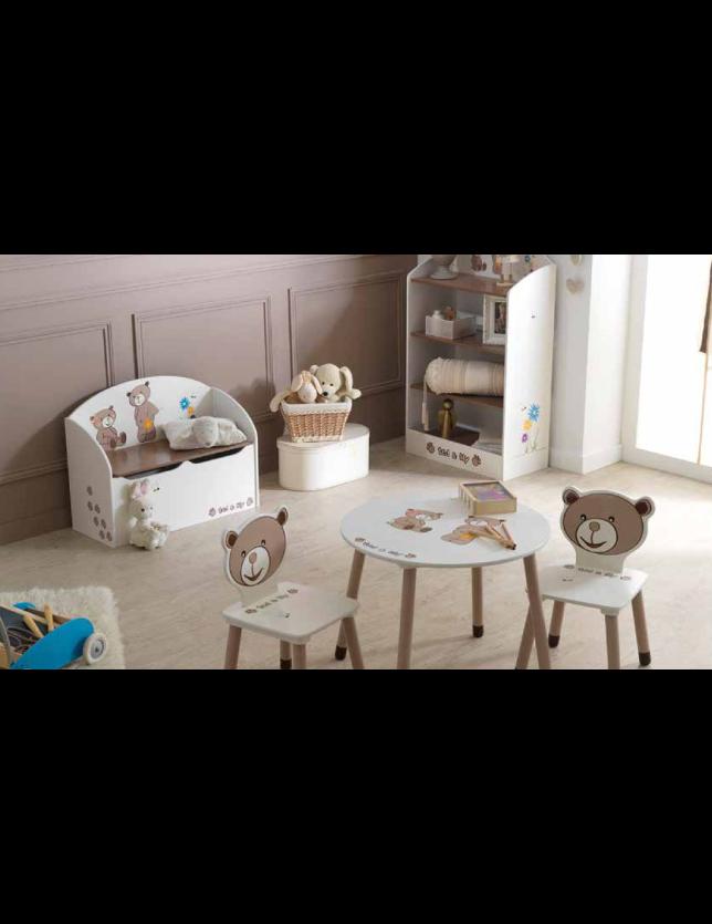 MESA REDONDA TED&LILY (KIT) CHOCOLAT/BEGE- 234550