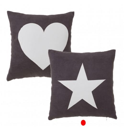 ALMOFADA 2/M HEART E STAR POLIESTER 45*45 - 122394
