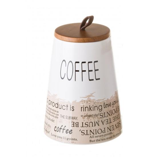 POTE WORDS STONEWARE 13*13*17.5 2MOD COFFEE TEA - 135392